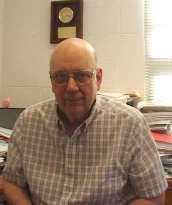 Dr. Griel in his office.